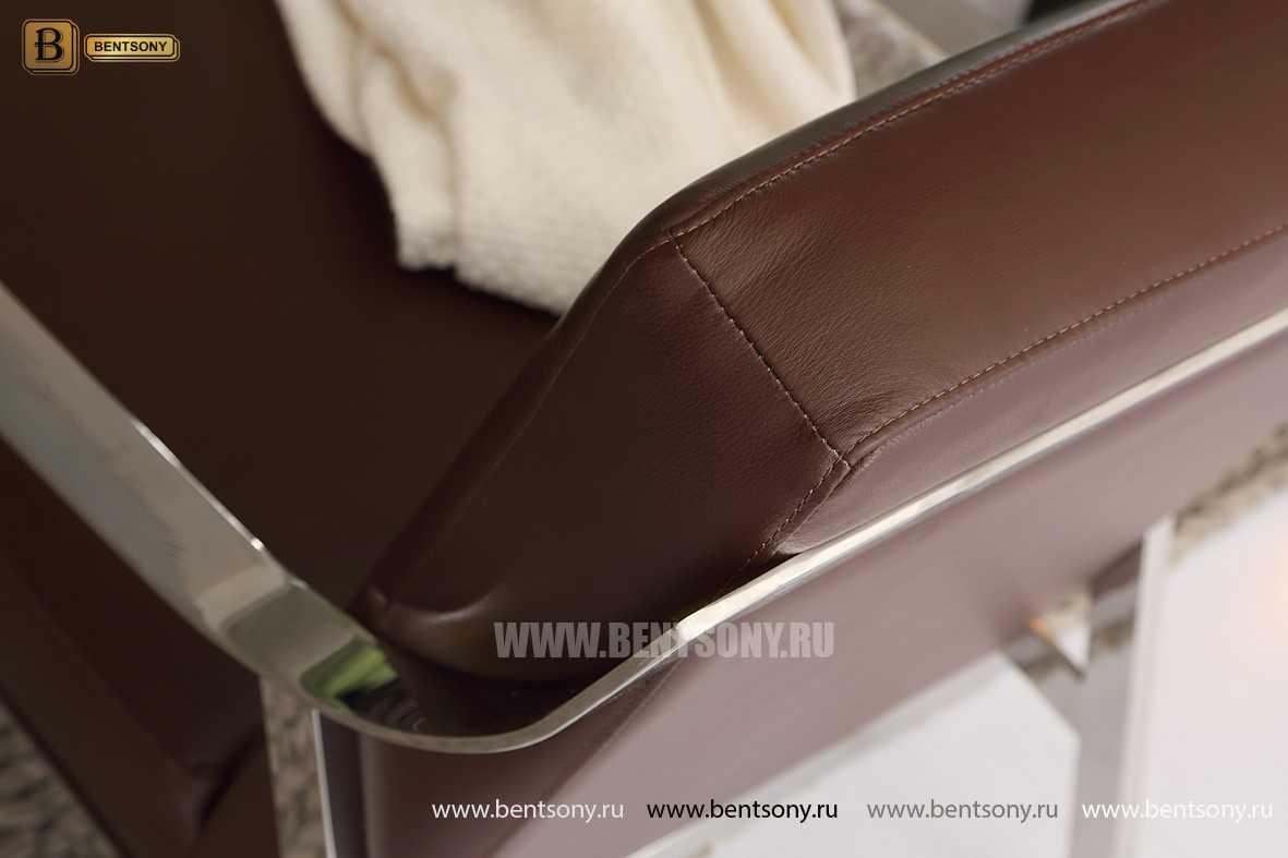 Кресло Триест (Металлические ножки, натуральная кожа)