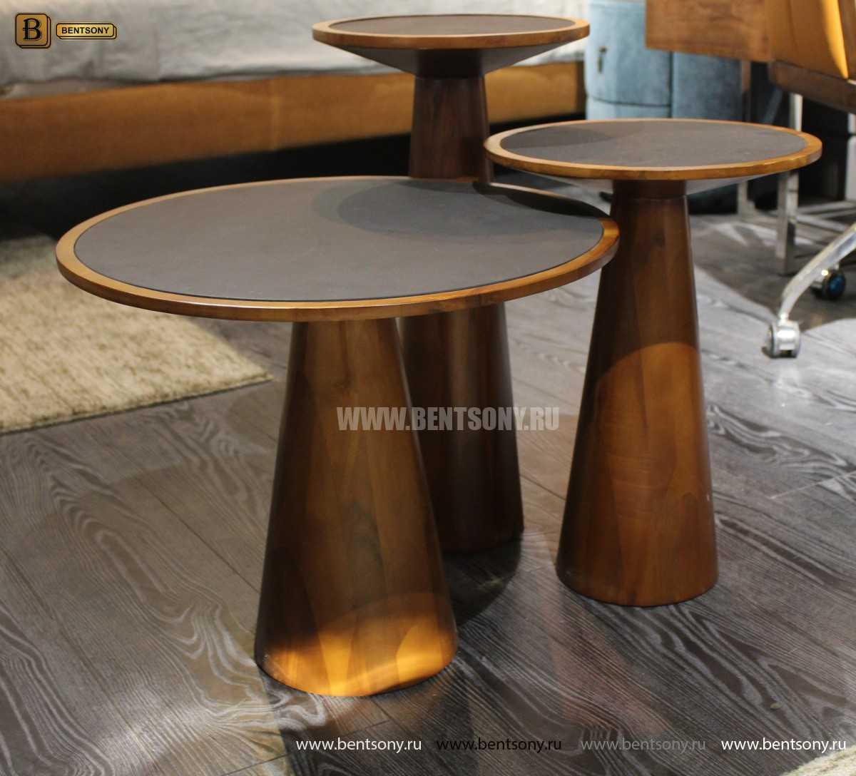 Деревянный приставной стол (Стеклянная столешница) каталог мебели