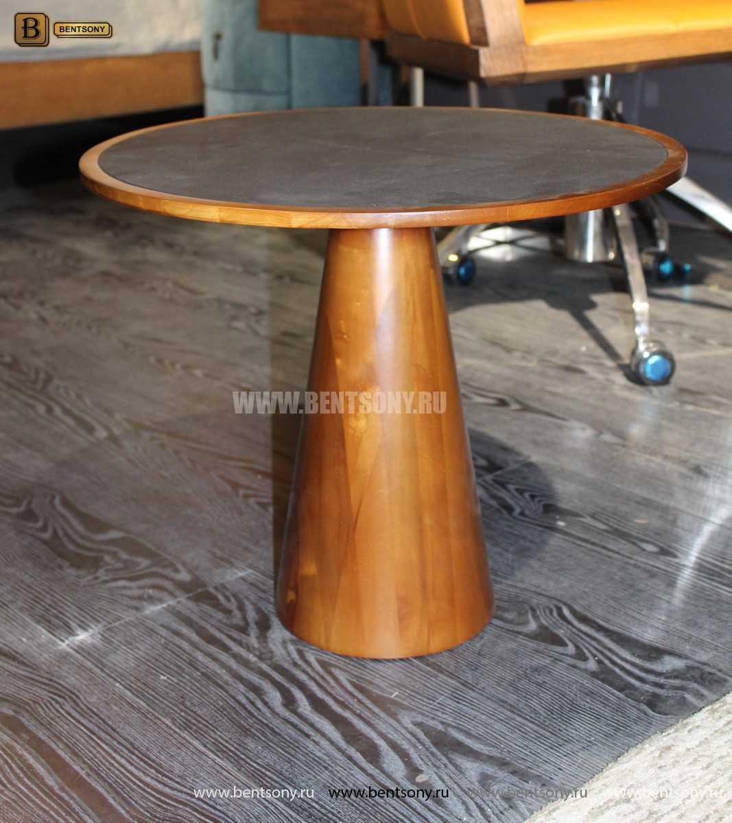 Деревянный приставной стол (Стеклянная столешница) распродажа