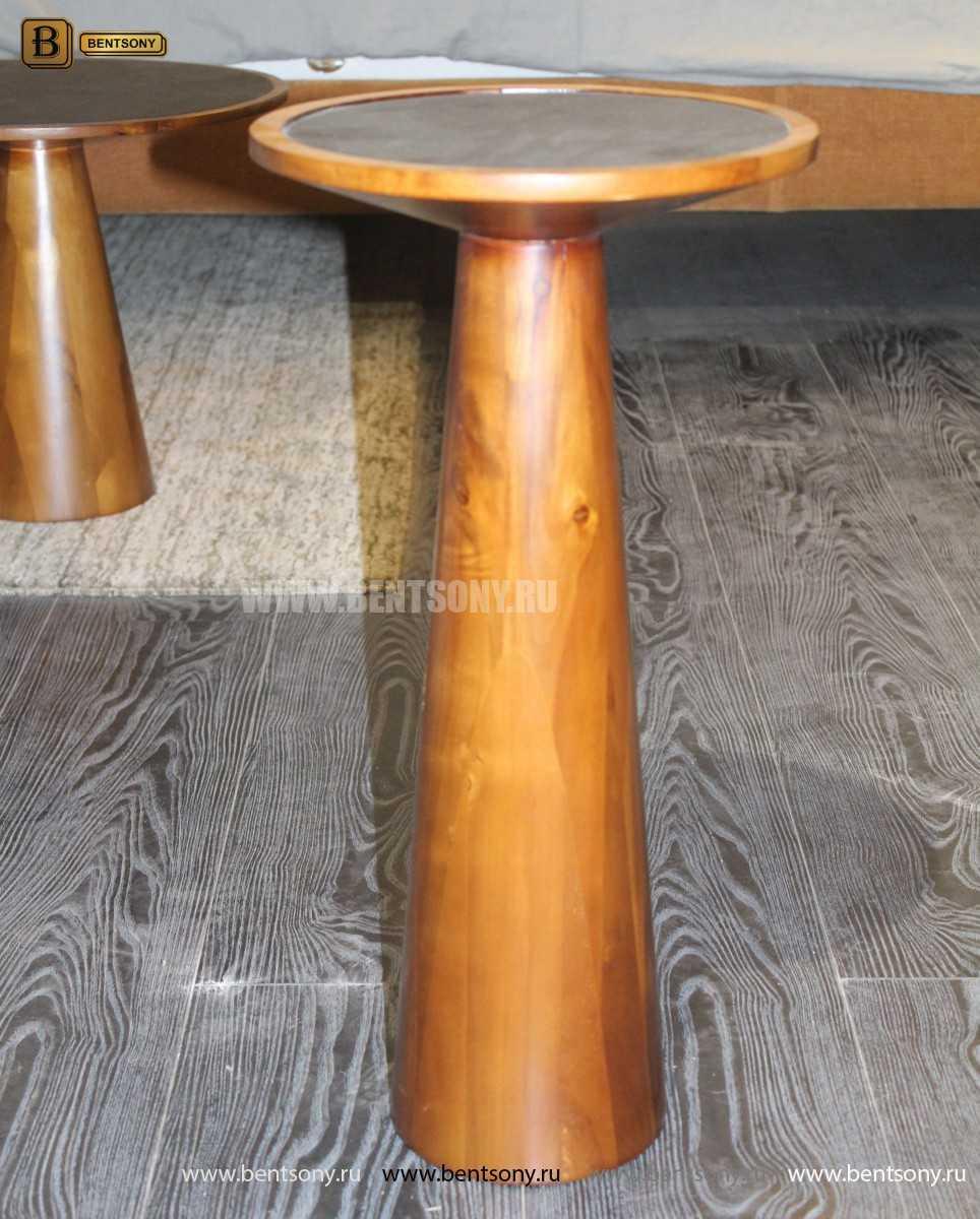 Деревянный приставной стол (Стеклянная столешница) каталог с ценами