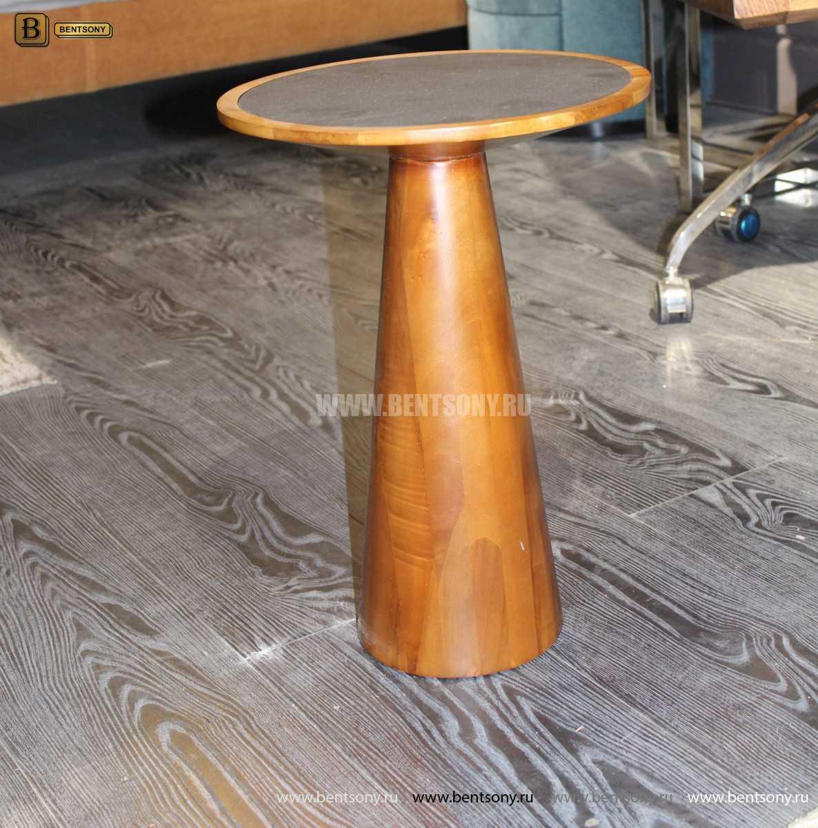 Деревянный приставной стол (Стеклянная столешница) для дома