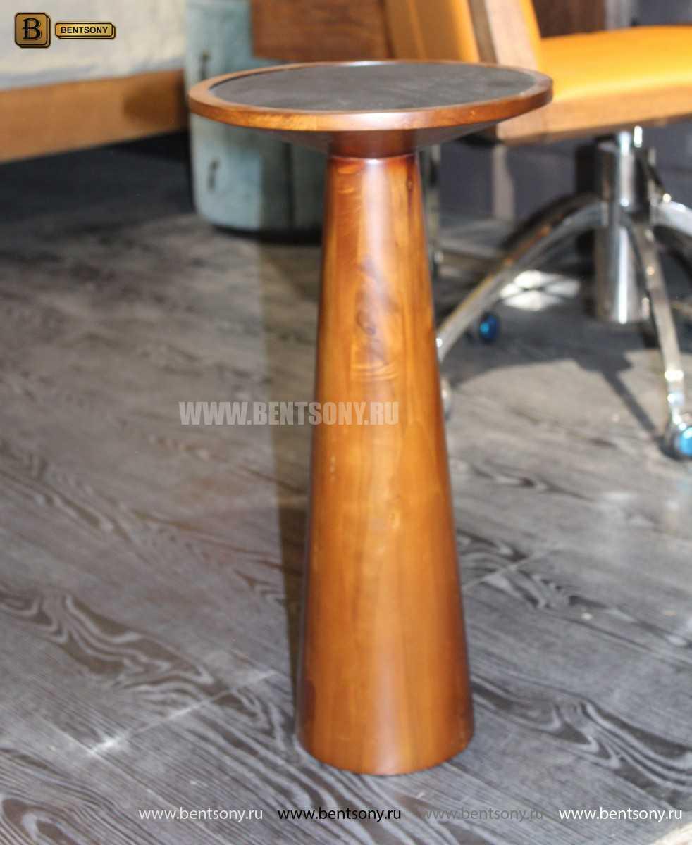 Деревянный приставной стол (Стеклянная столешница) купить