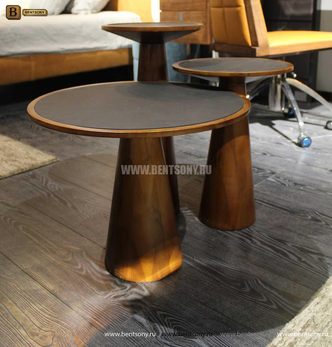 Деревянный приставной стол (Стеклянная столешница) цена