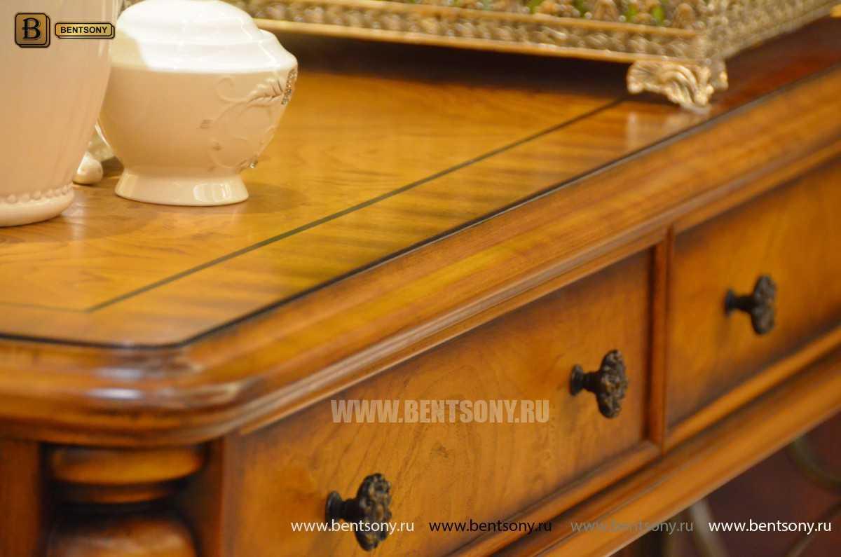 Тумба придиванная Дакота B (Классика, деревянная столешница) изображение