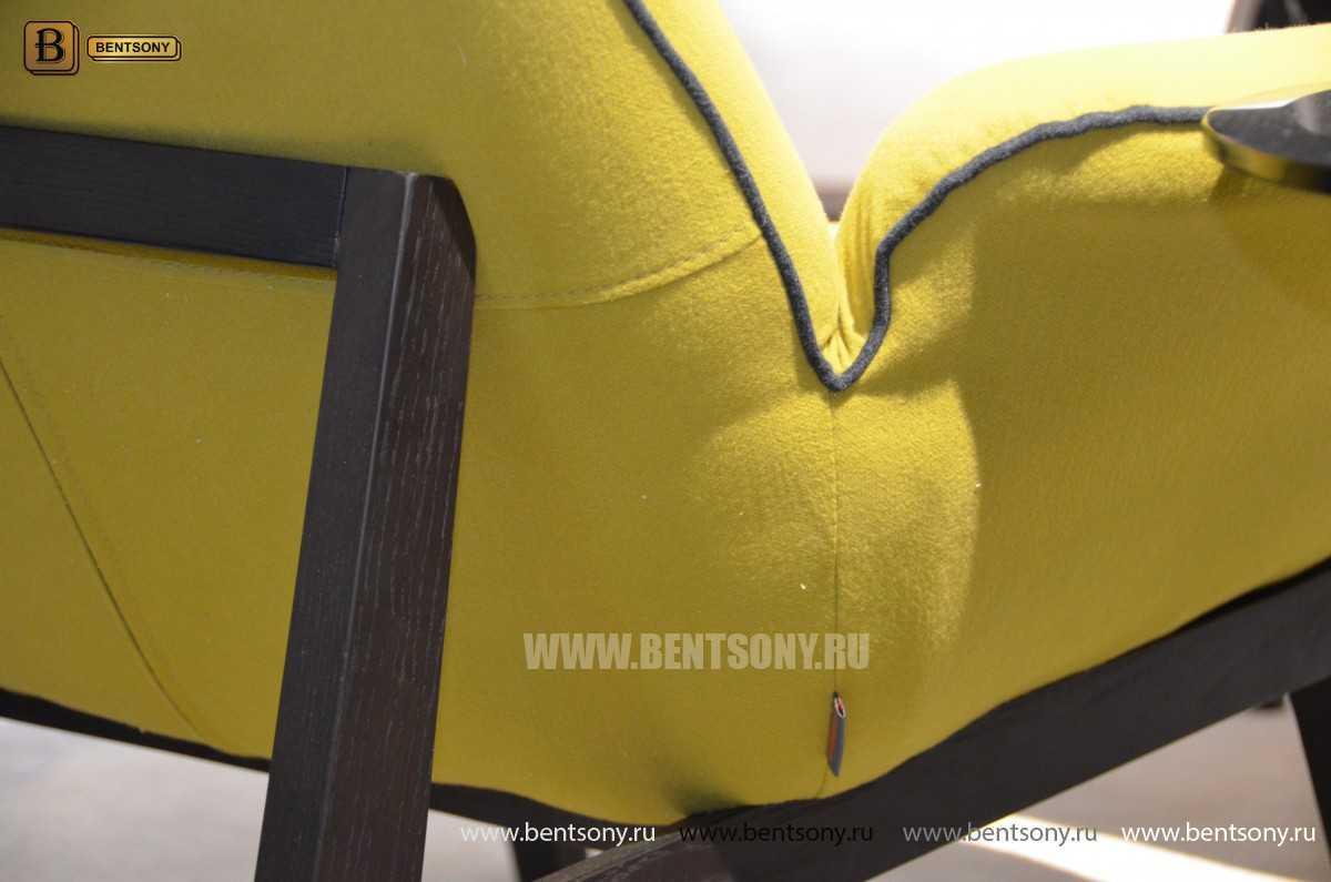 Кресло Ленчо (Деревянные ножки, Пуф) каталог мебели с ценами