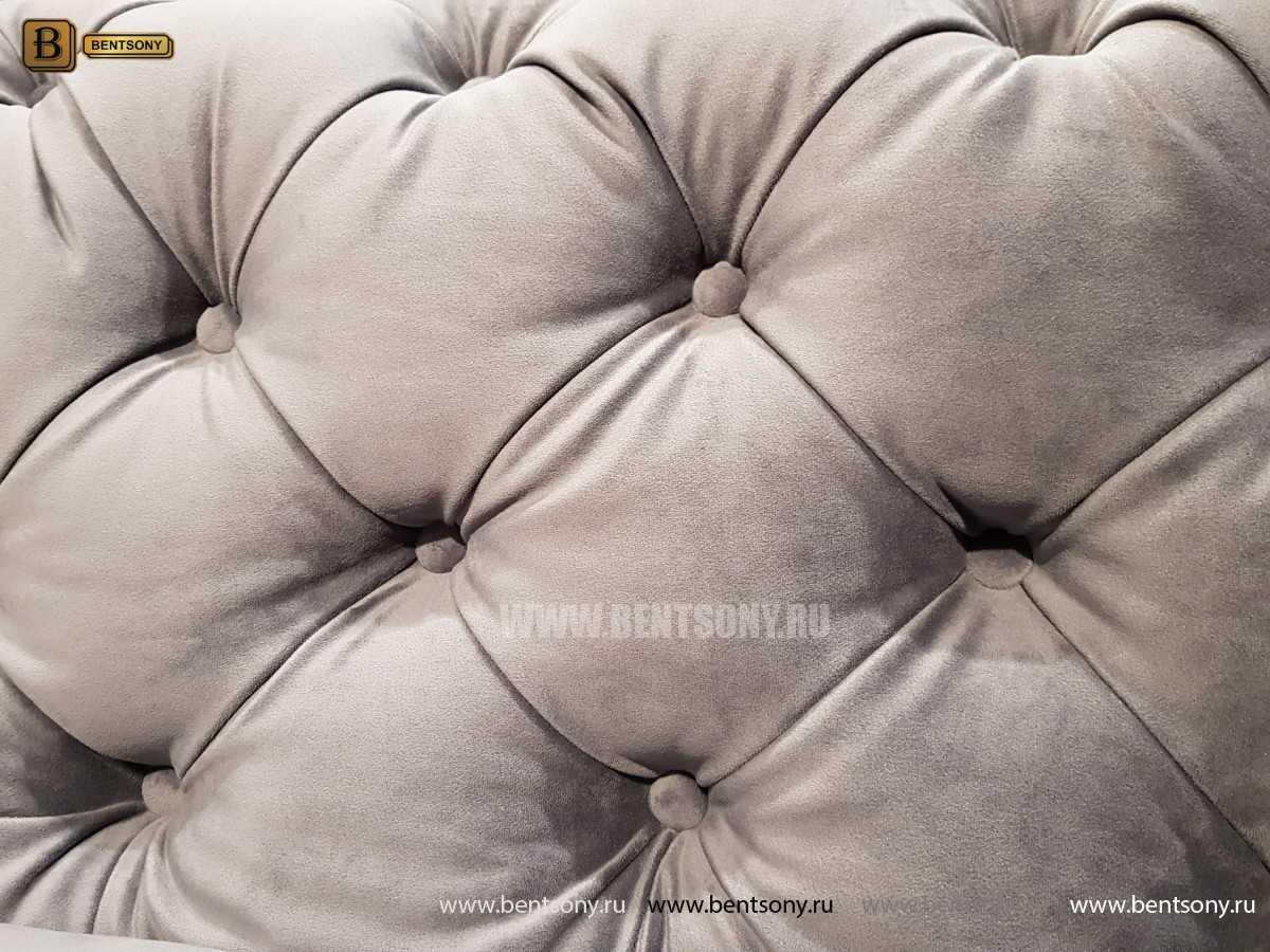 Итальянский Диван Сандриго (Прямой, Велюр, Капитоне) каталог мебели