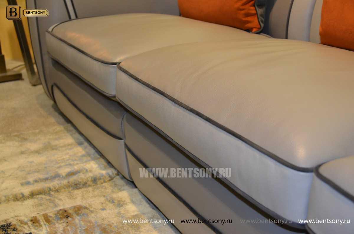 Диван Караджо (Прямой, Натуральная кожа) для квартиры