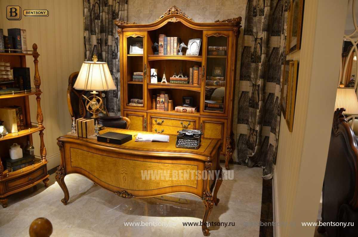 Шкаф Книжный Дакота (Классика, массив дерева) изображение