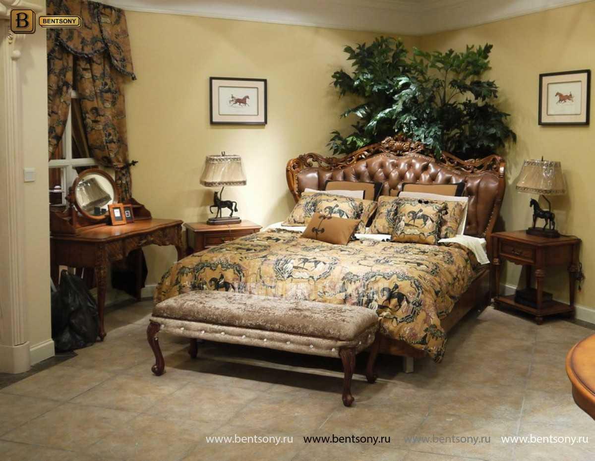 Кровать Феникс F (Классика, Натуральная Кожа) каталог мебели с ценами
