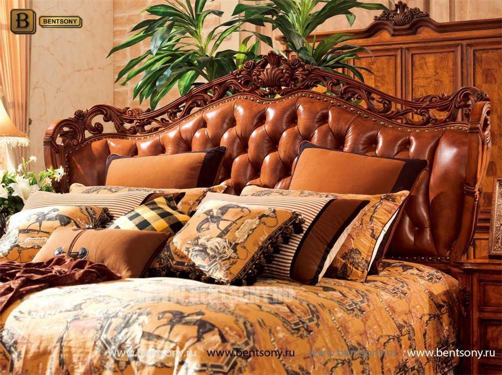 Кровать Феникс F (Классика, Натуральная Кожа) интернет магазин