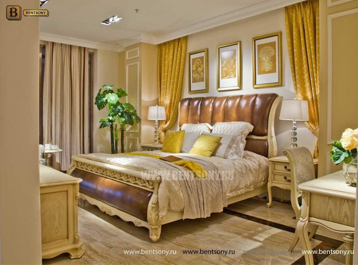 Кровать Феникс H (Классика, Натуральная Кожа) купить в СПб