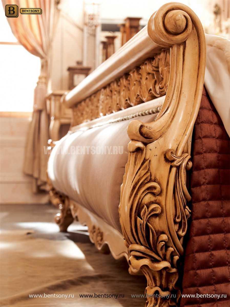 Кровать Феникс H (Классика, Натуральная Кожа) для дома