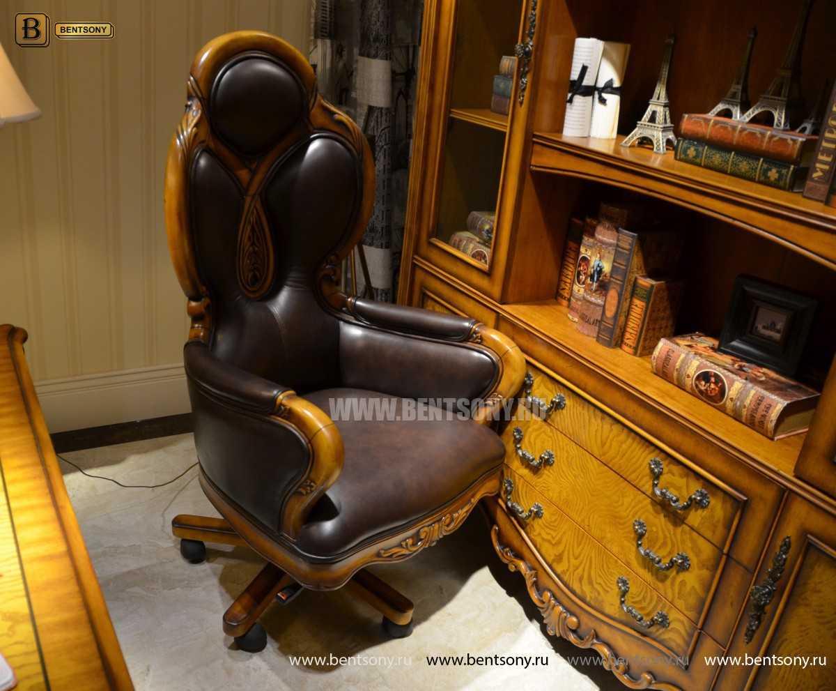 Кресло Кабинетное Дакота А (Классика, натуральная кожа) для дома