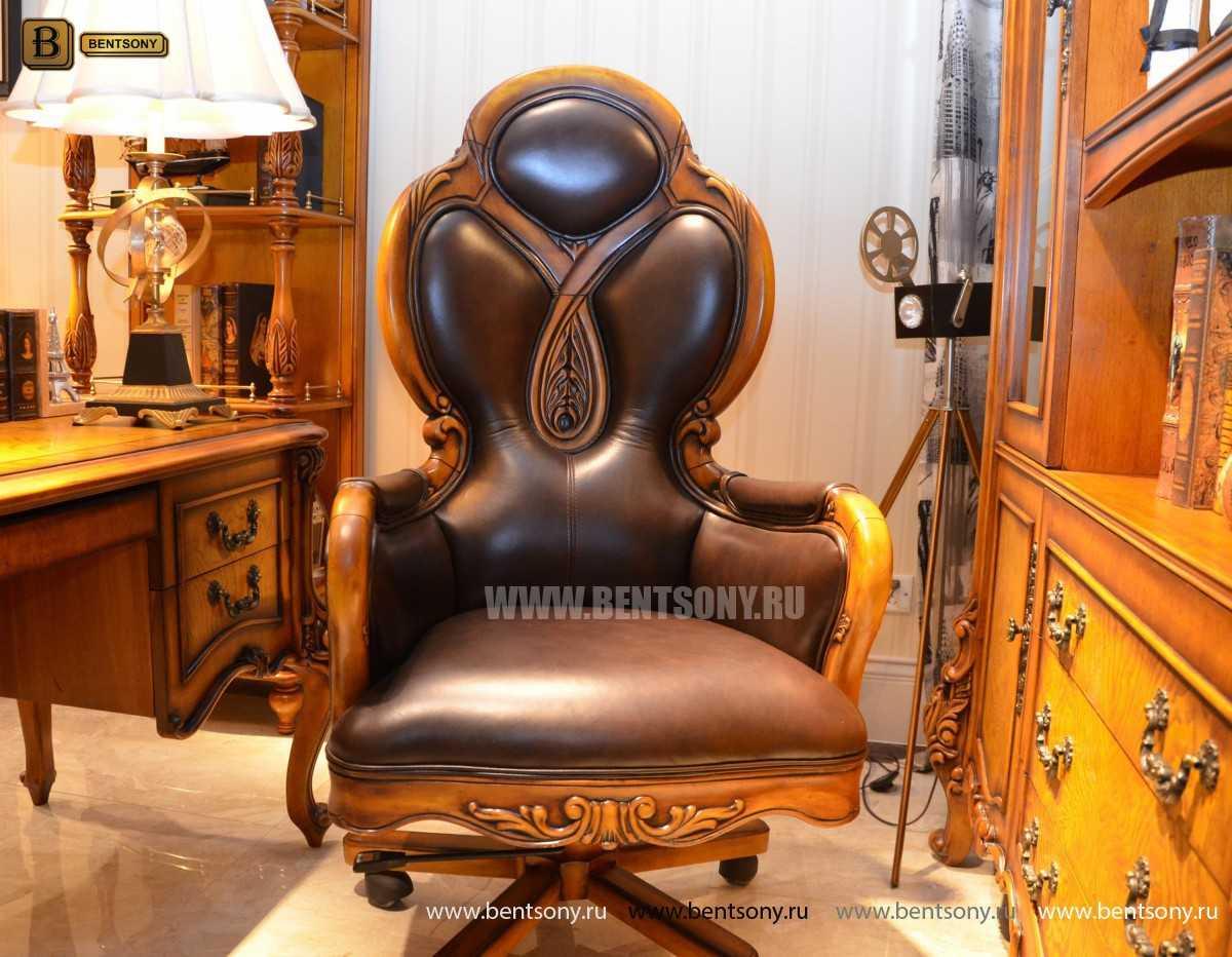 Кресло Кабинетное Дакота А (Классика, натуральная кожа) изображение