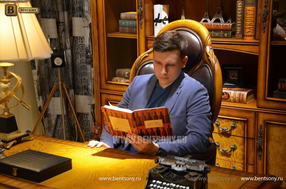 Кресло Кабинетное Дакота А (Классика, натуральная кожа) купить в СПб