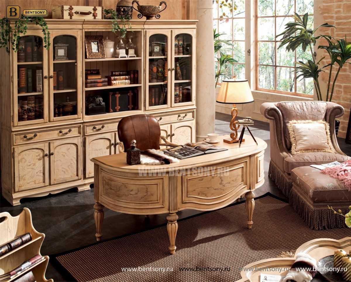 Письменный стол Феникс А (Массив дерева, классика) для квартиры