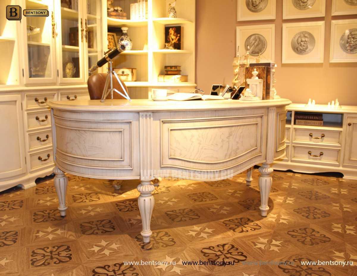 Письменный стол Феникс А (Массив дерева, классика) каталог мебели