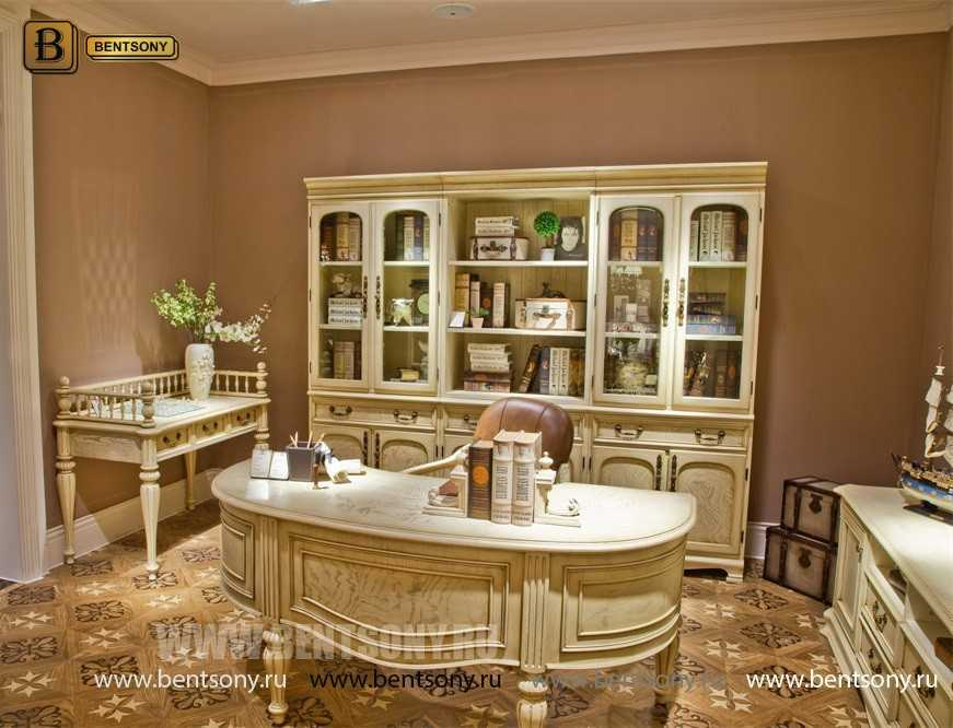 Письменный стол Феникс малый (Массив дерева, классика) для квартиры