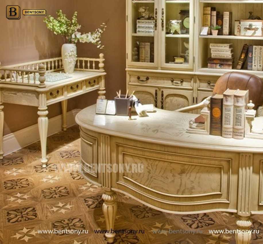 Письменный стол Феникс малый (Массив дерева, классика) купить в Москве