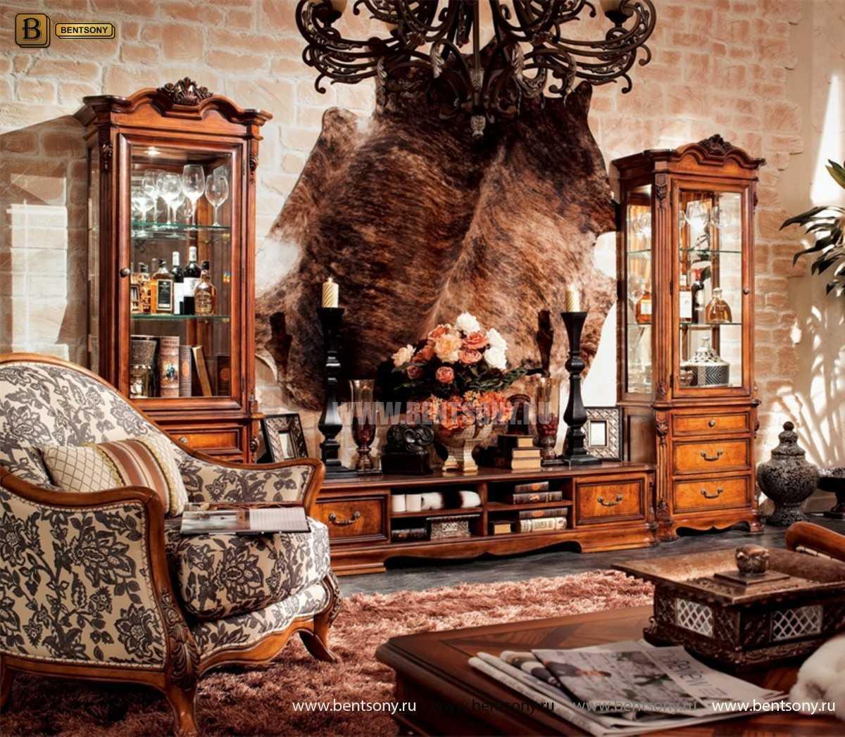 Витрина однодверная Феникс (Классика, массив дерева) магазин