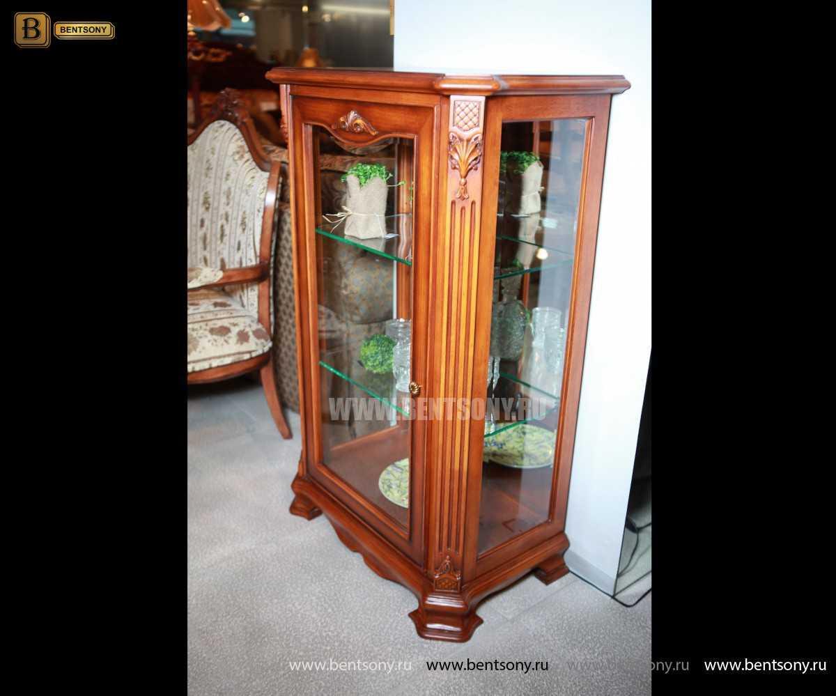 Витрина Феникс для предметов декора (Классика, массив дерева) интернет магазин