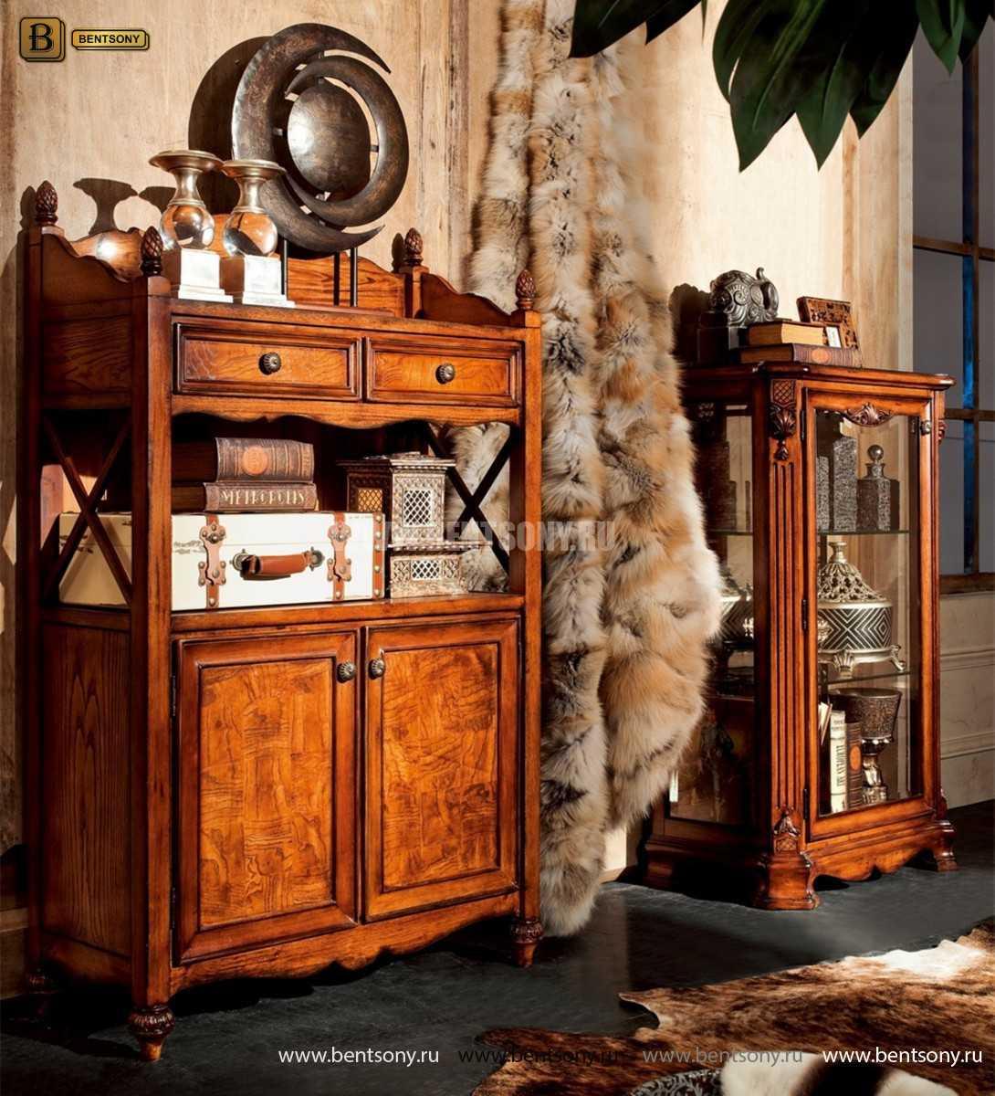 Витрина Феникс для предметов декора (Классика, массив дерева) официальный сайт цены