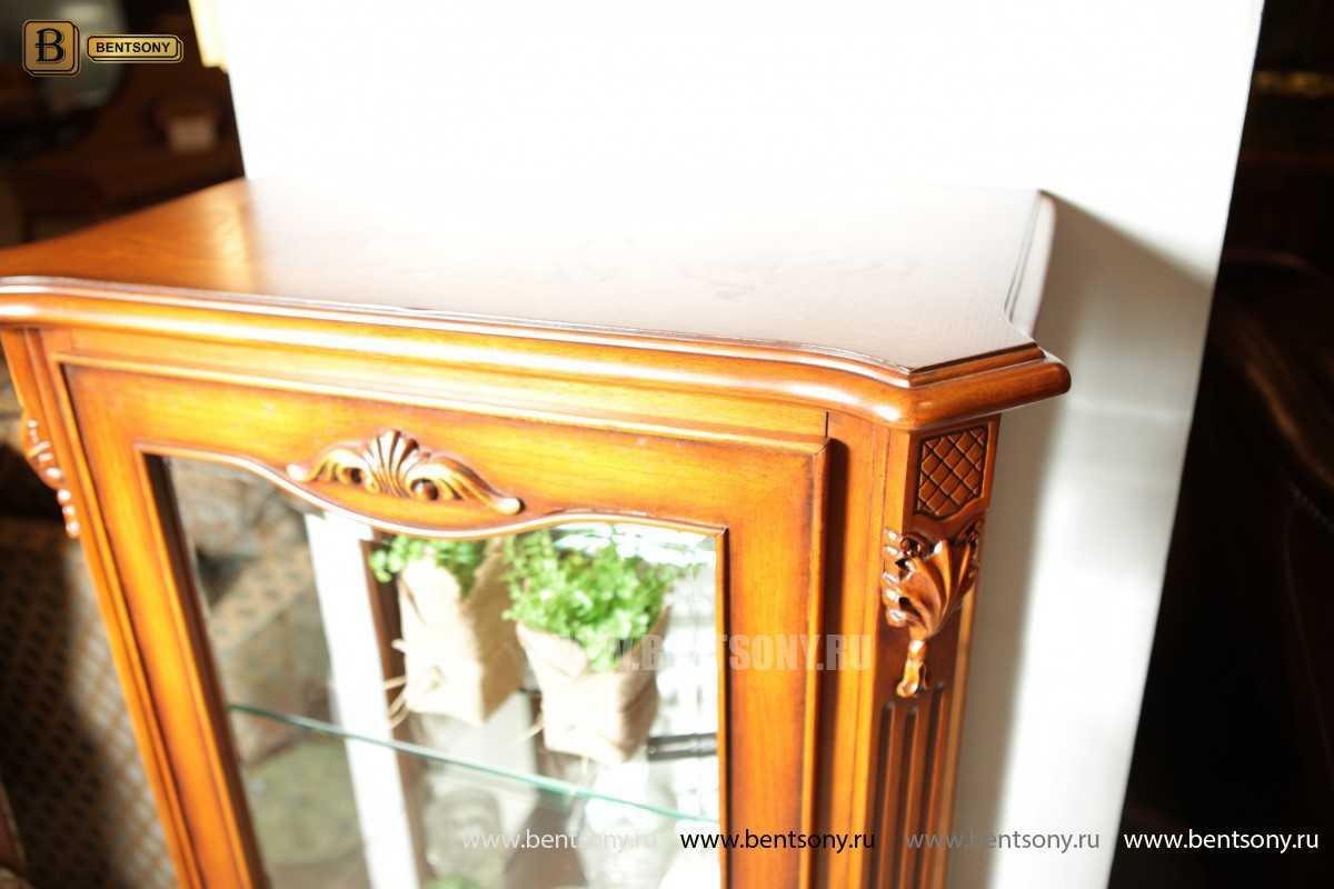Витрина Феникс для предметов декора (Классика, массив дерева) каталог мебели с ценами