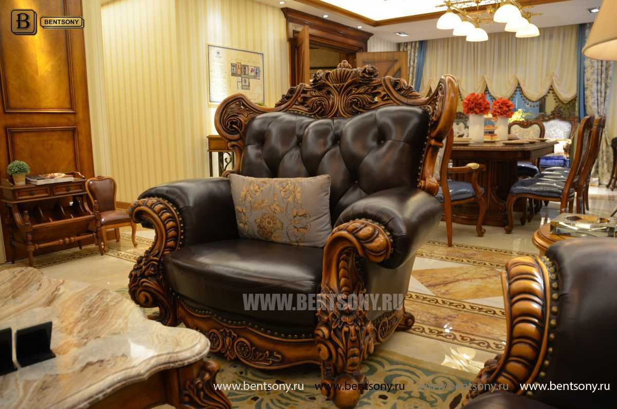 Диван Дакота G (Классика, Натуральная Кожа) каталог мебели