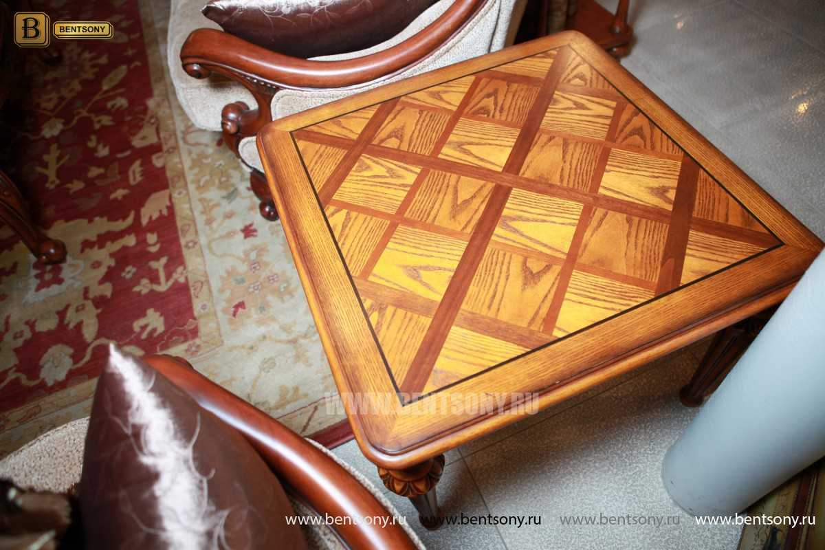 Стол журнальный Феникс A квадратный (Массив дерева)  каталог с ценами
