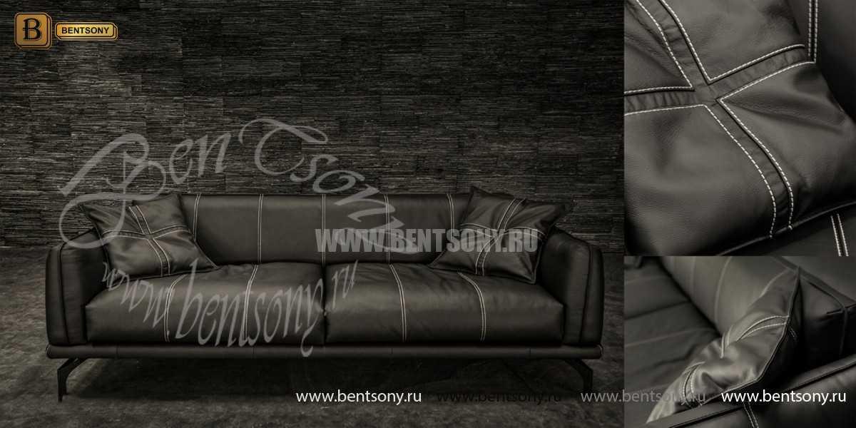 Диван Луциано элит (Прямой, Натуральная кожа)  купить в Москве