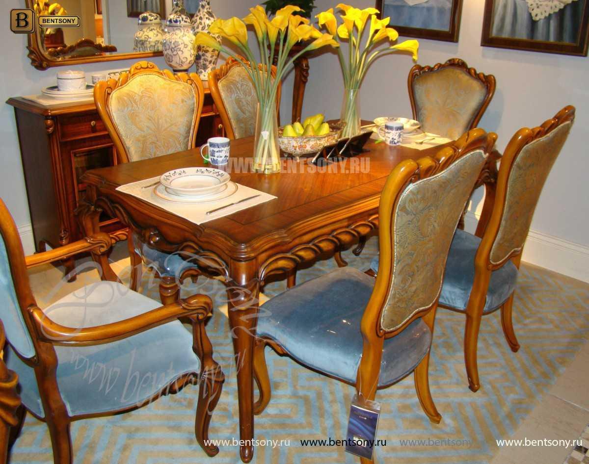 Стол обеденный Лоренс прямоугольный (Классика, массив дерева) купить
