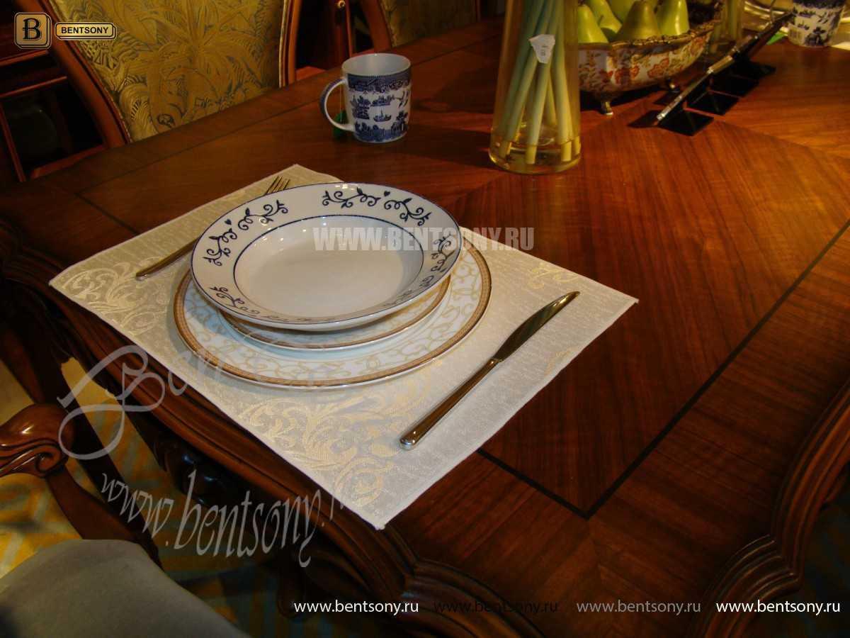 Стол обеденный Лоренс прямоугольный (Классика, массив дерева) для квартиры