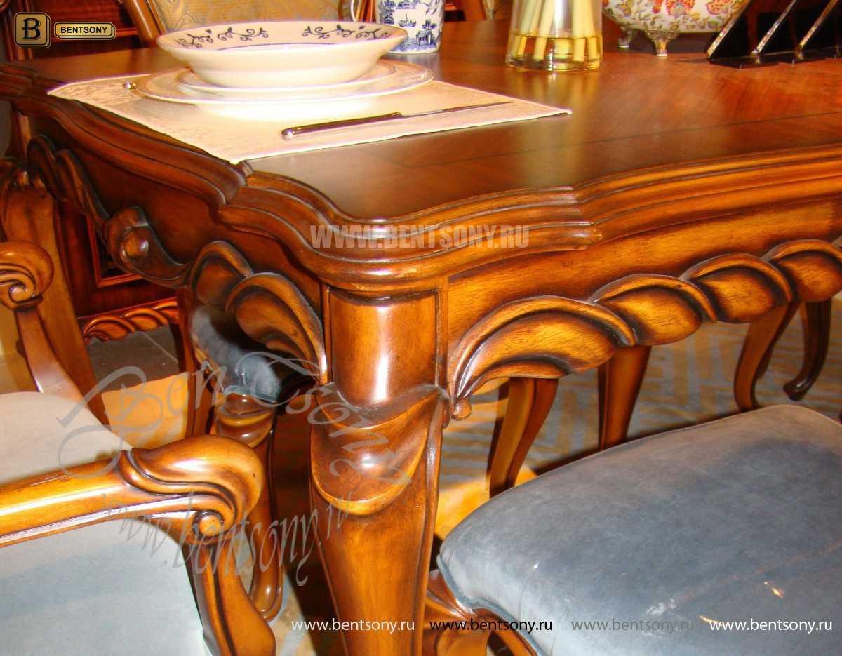 Стол обеденный Лоренс прямоугольный (Классика, массив дерева) фото
