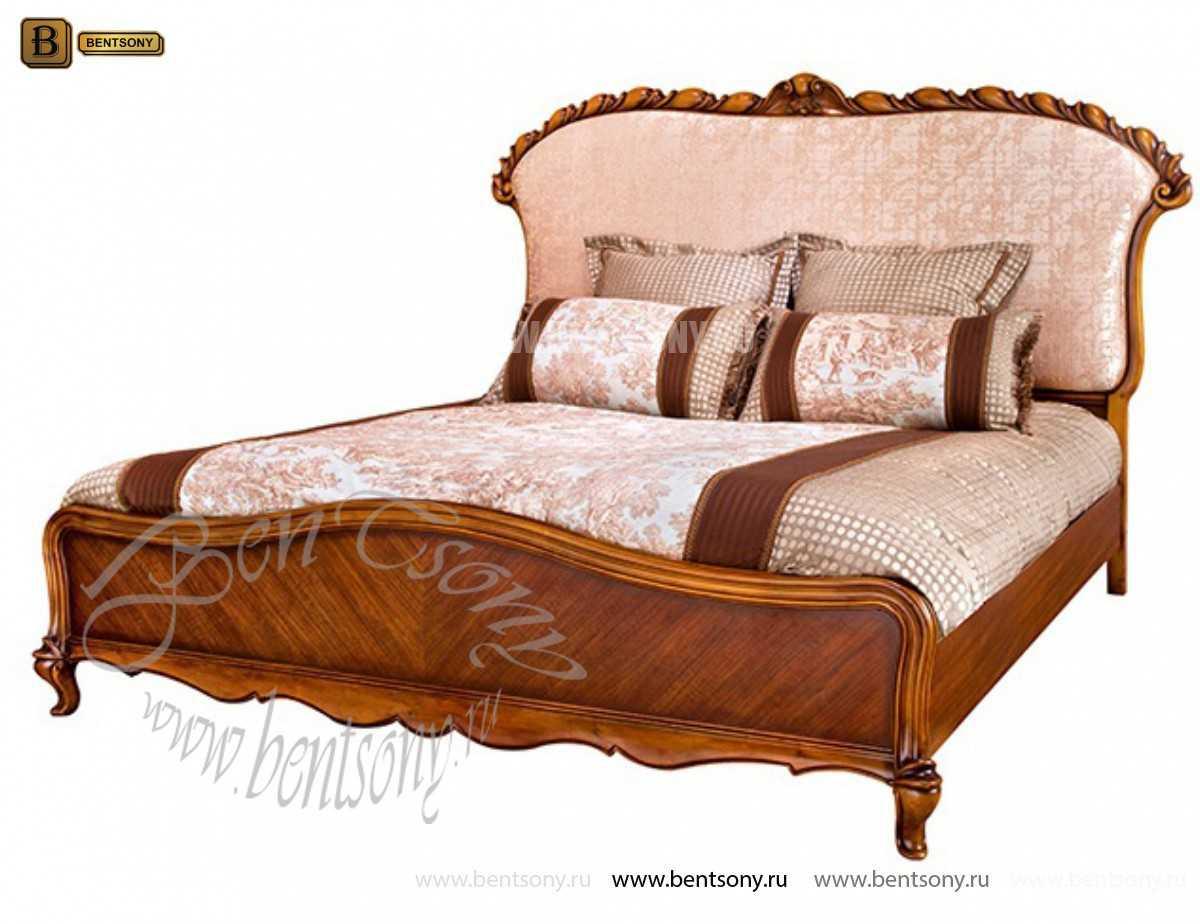 Кровать Лоренс А (Классика, Ткань) в интерьере