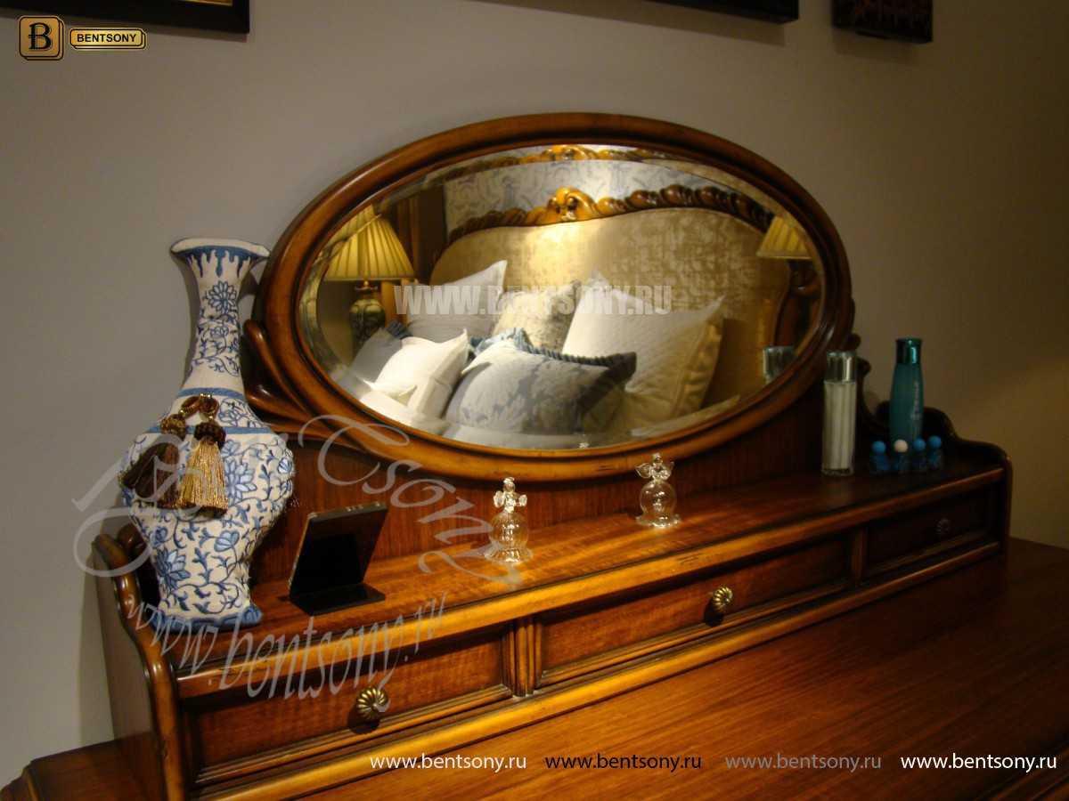 Стол туалетный Лоренс А с зеркалом (Классика, массив дерева) каталог мебели с ценами