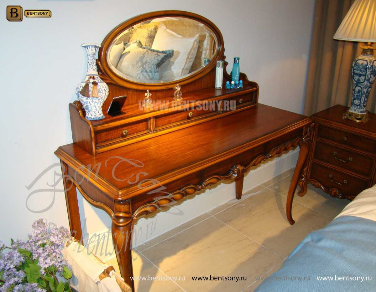 Стол туалетный Лоренс А с зеркалом (Классика, массив дерева) каталог мебели