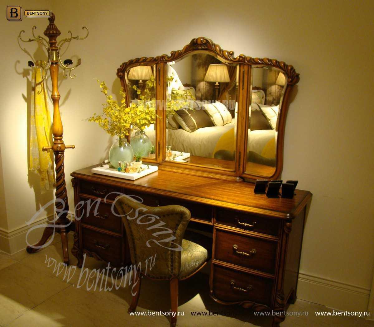 Стол туалетный Лоренс В с зеркалом (Классика, массив дерева) магазин
