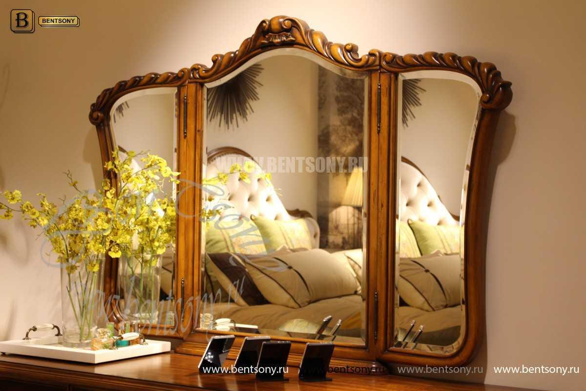 Стол туалетный Лоренс В с зеркалом (Классика, массив дерева) купить