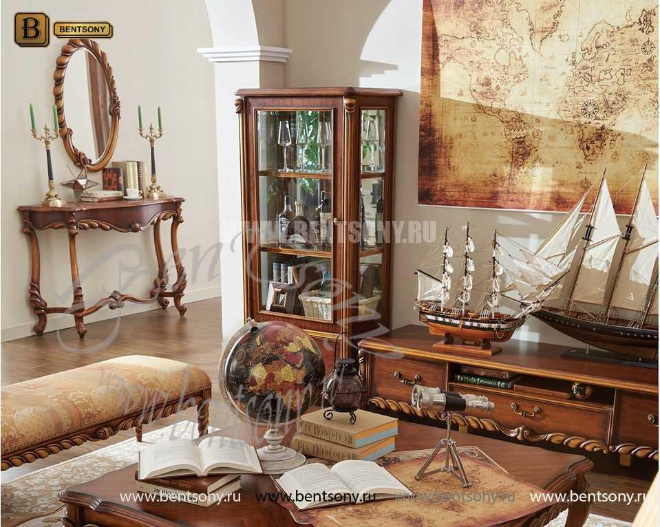 Витрина Лоренс высокая для предметов декора (Классика, массив дерева) магазин