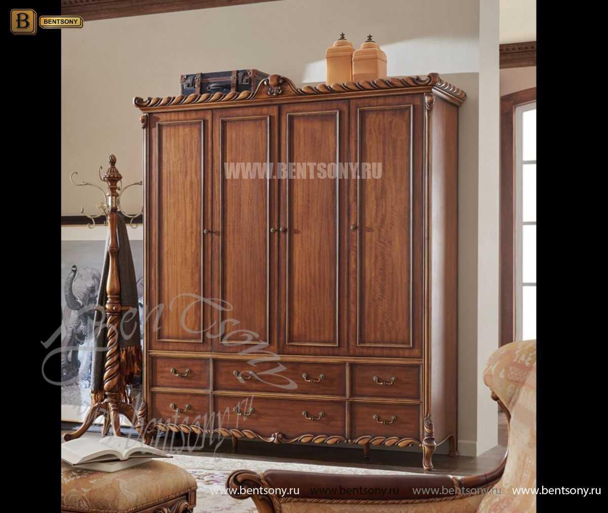 Шкаф 4-х дверный Лоренс (Массив дерева, Классика) купить