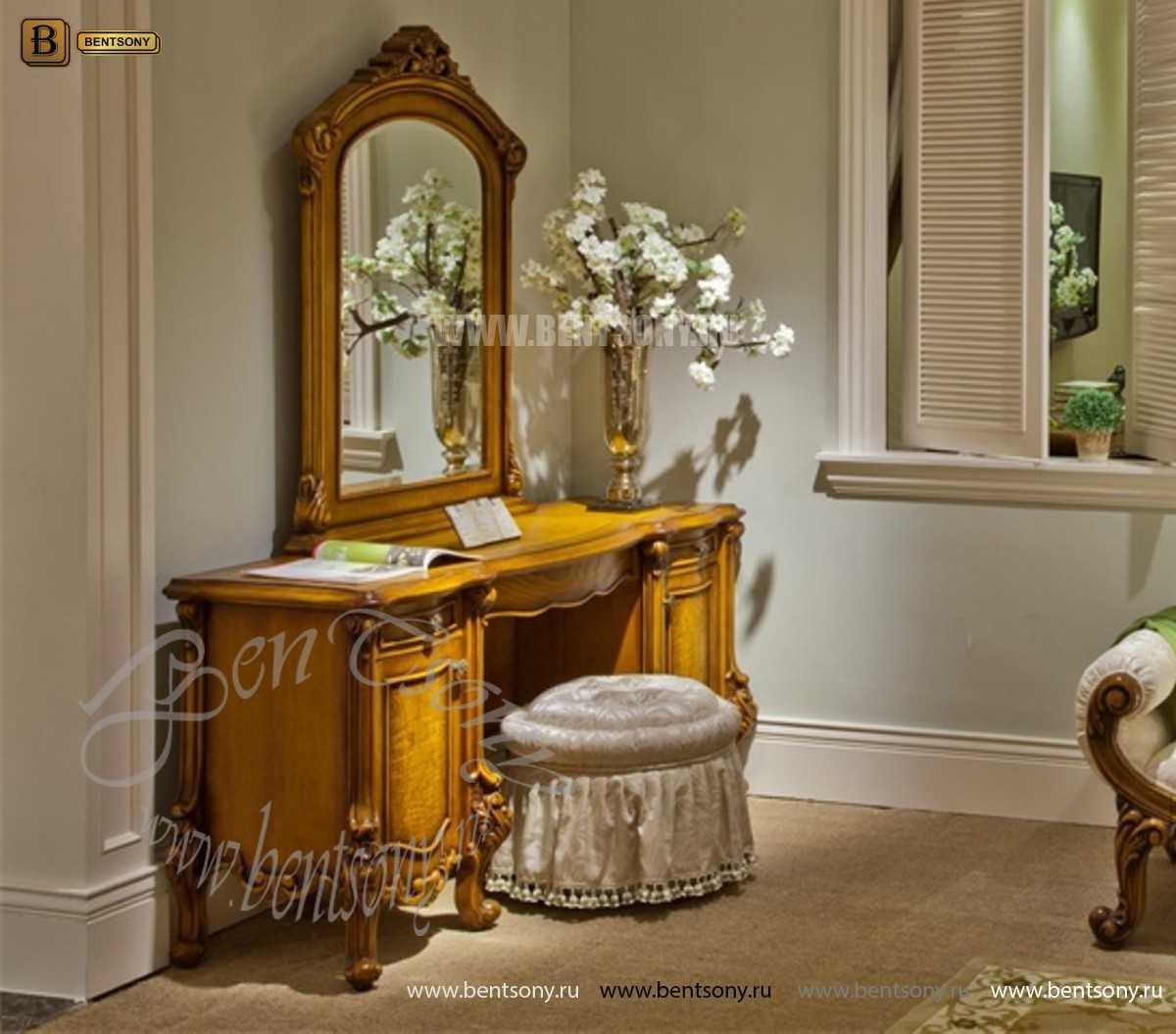 Стол туалетный Дакота B с зеркалом (Массив дерева, классика) каталог мебели