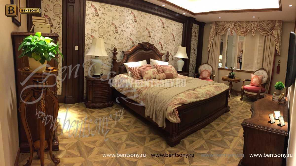 Спальня Монтана B (Натуральная кожа, массив дерева) для загородного дома