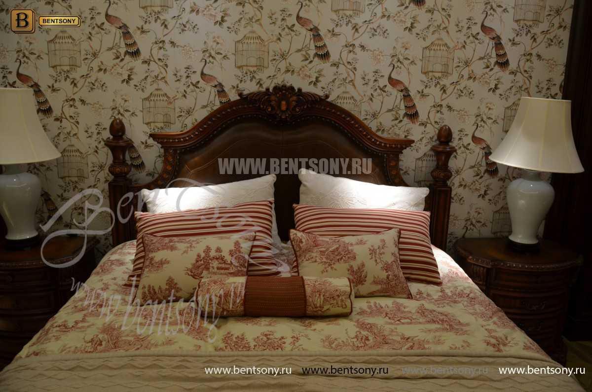 Спальня Монтана B (Натуральная кожа, массив дерева) каталог мебели