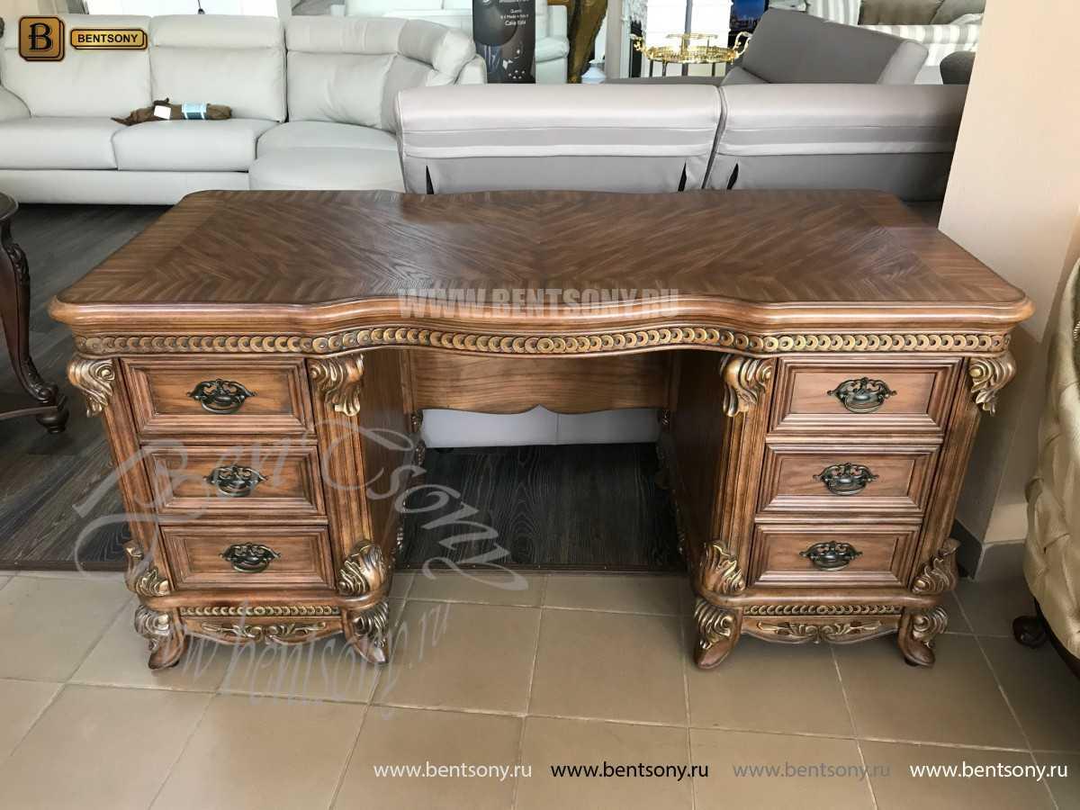 Классический Письменный стол Рамирес (Массив дерева) купить в СПб