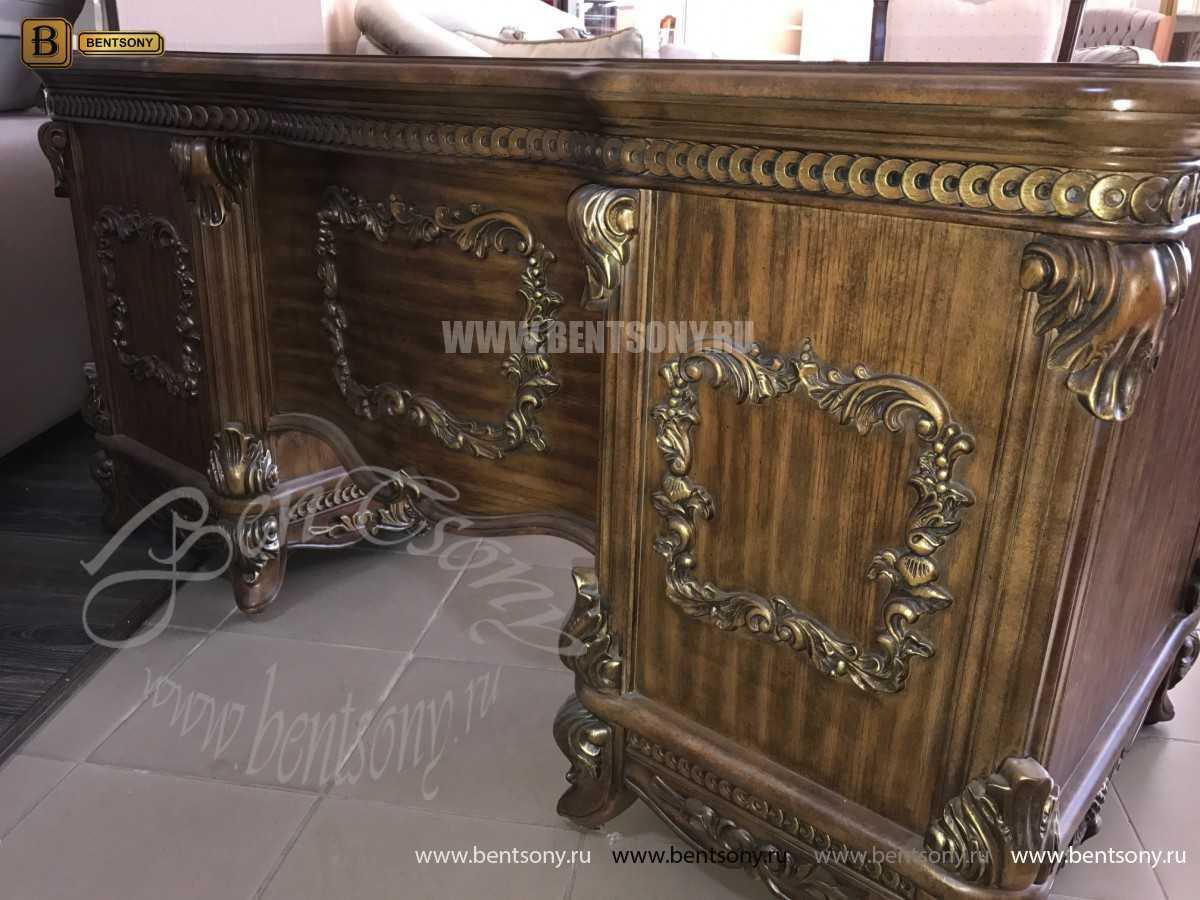 Классический Письменный стол Рамирес (Массив дерева) в интерьере