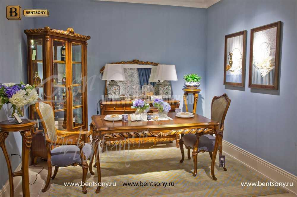 Витрина 2-х дверная Лоренс (Классика, массив дерева) каталог мебели с ценами