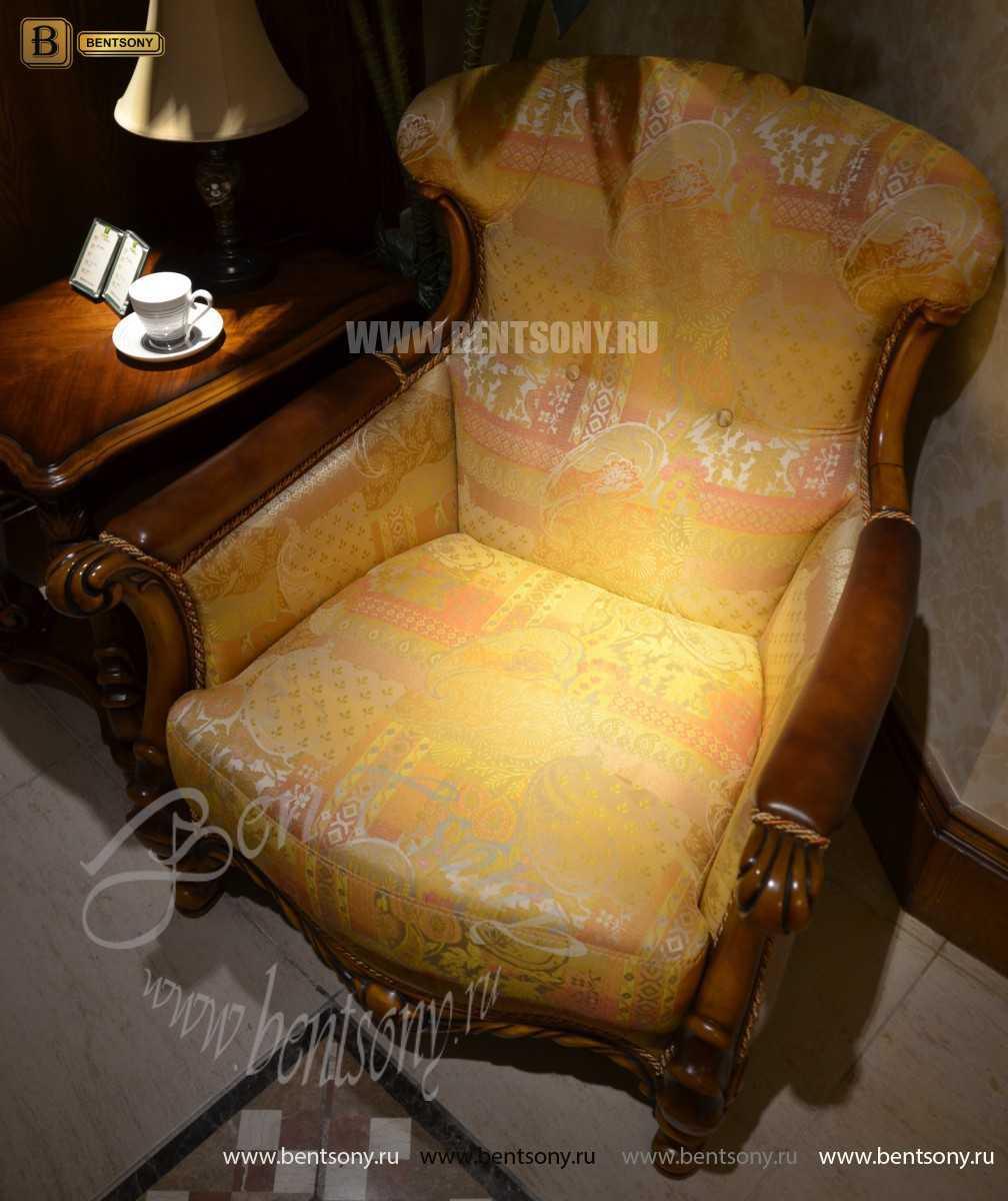 Кресло для отдыха Лоренс А (Классика, Ткань)  в интерьере