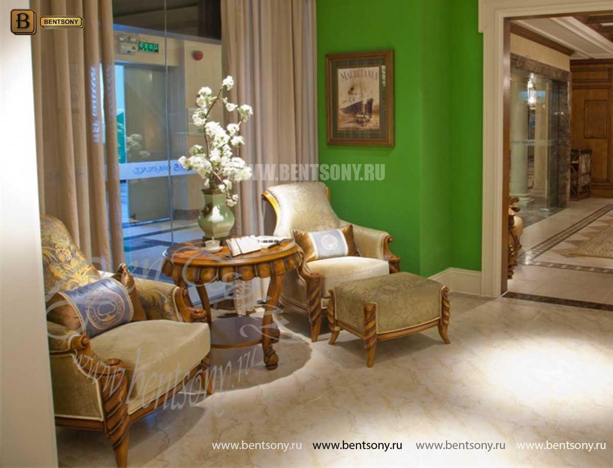 Кресло классическое для отдыха Лоренс с подушкой (Ткань) фото