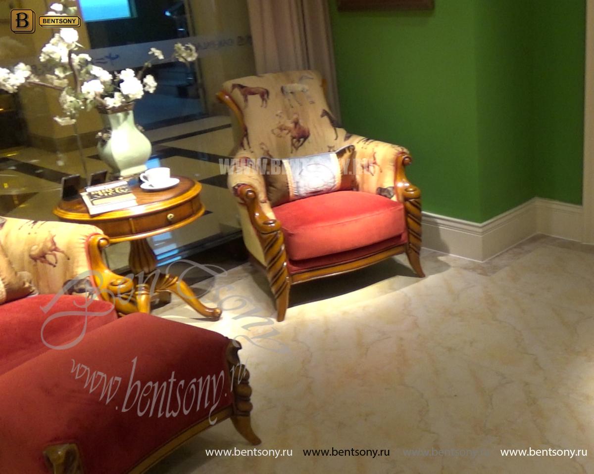 Кресло классическое для отдыха Лоренс с подушкой (Ткань) купить в Москве