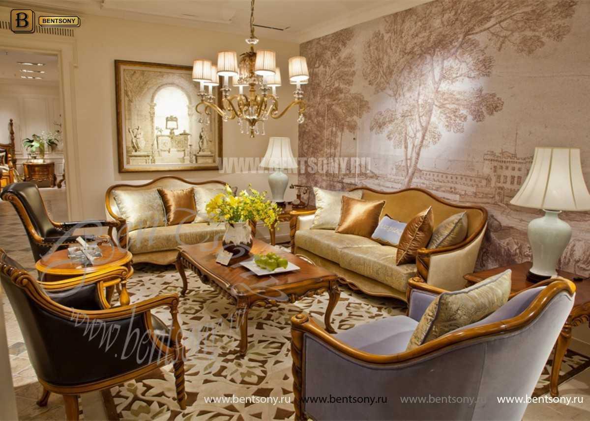 Гостиная Лоренс B классическая (Ткань) каталог мебели с ценами